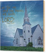 On Hallowed Ground - Bible Verse Wood Print