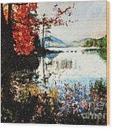 On Jordan Pond Wood Print