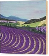 On Lavender Trail Wood Print