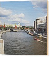 On Moscow River - Russia Wood Print
