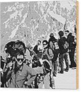 On Mount Blanc Wood Print