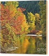 On Nason Creek Wood Print