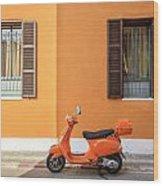 On Orange Street Wood Print