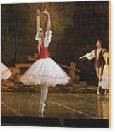On Point Russian Ballet Wood Print by Linda Phelps