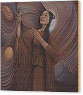 On Sacred Ground Series V Wood Print by Ricardo Chavez-Mendez