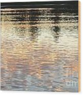 On Shimmering Pond Wood Print