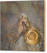 On Stage The Trumpeter Wood Print