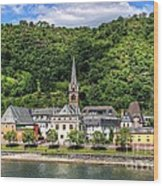 On The Banks Of The Rhine  Wood Print