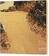 On The Beach Wood Print