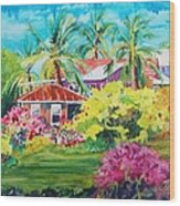 On The Big Island Wood Print