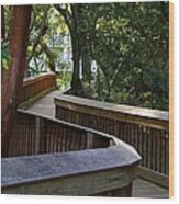 On The Boardwalk Wood Print
