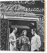 On The Casablanca Set Wood Print
