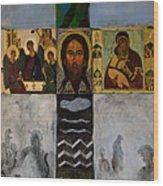 On The Cross Wood Print