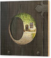 On The Doorstep Wood Print by Kiril Stanchev