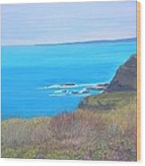 On The Dunes Perranporth Wood Print