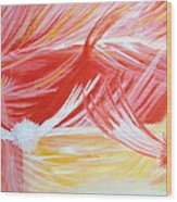 On The Flaming Wings Of Angels Wood Print
