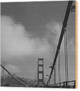 On The Golden Gate Bridge  Wood Print