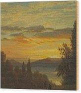 On The Hudson River Near Irvington Wood Print
