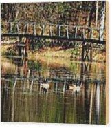 On The Lake Wood Print