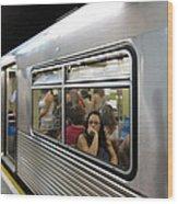 On The Metro - Sao Paulo Wood Print