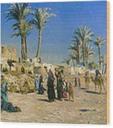 On The Outskirts Of Cairo Wood Print