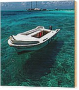 On The Peaceful Waters. Maldives Wood Print