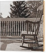 On The Porch Wood Print