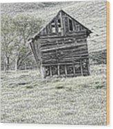 On The Prairie Wood Print