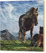 On The Range Wood Print