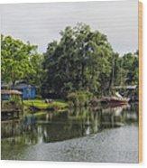 On The River In Baldwin County Alabama Wood Print