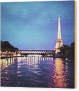 On The River Seine Wood Print