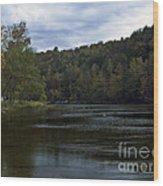 On The River Three Wood Print