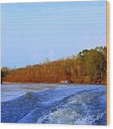 On The Rivers Bend Wood Print