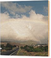 On The Road To Hilo Wood Print