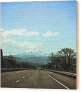 On The Road To Mount Hood Wood Print