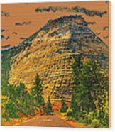On The Road To Zion Wood Print