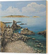 On The Rocks In The Old Part Of Sozopol Wood Print