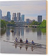 On The Schuylkill Wood Print