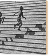 On The Stairs . Wood Print