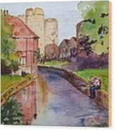 On The Stour River -canterbury Wood Print