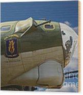 On The Tarmac B-17g Wood Print