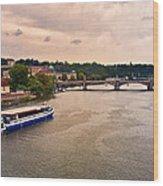 On The Vltava River - Prague Wood Print