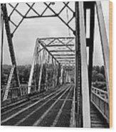 On The Washingtons Crossing Bridge Wood Print