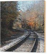 On Track Wood Print