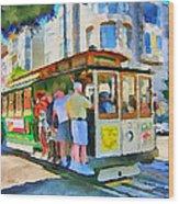 On Tram In San Francisco Wood Print by Yury Malkov