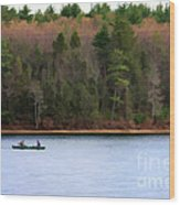 On Walden Pond Wood Print by Jayne Carney