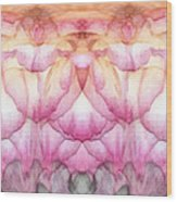 Once A Rose Wood Print by Wendy J St Christopher