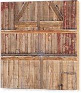 Once Red Doors Wood Print