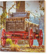 Wagon - Rustic - Once Upon A Time Before Pickups Wood Print