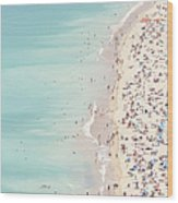 Ondarreta Beach, San Sebastian, Spain Wood Print